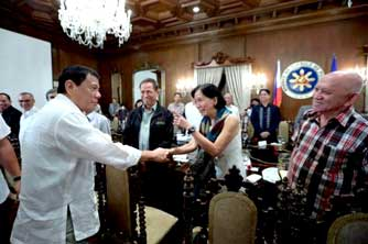 Duterte meets NDFP leaders at People's Palace